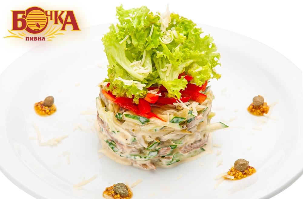 Салат з телячим язиком
